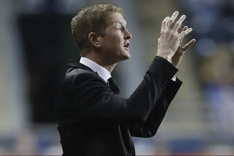 Philadelphia Union manager Jim Curtin will likely choose between Matthew Real and recent signee Olivier Mbaizo to start at left back against FC Dallas.