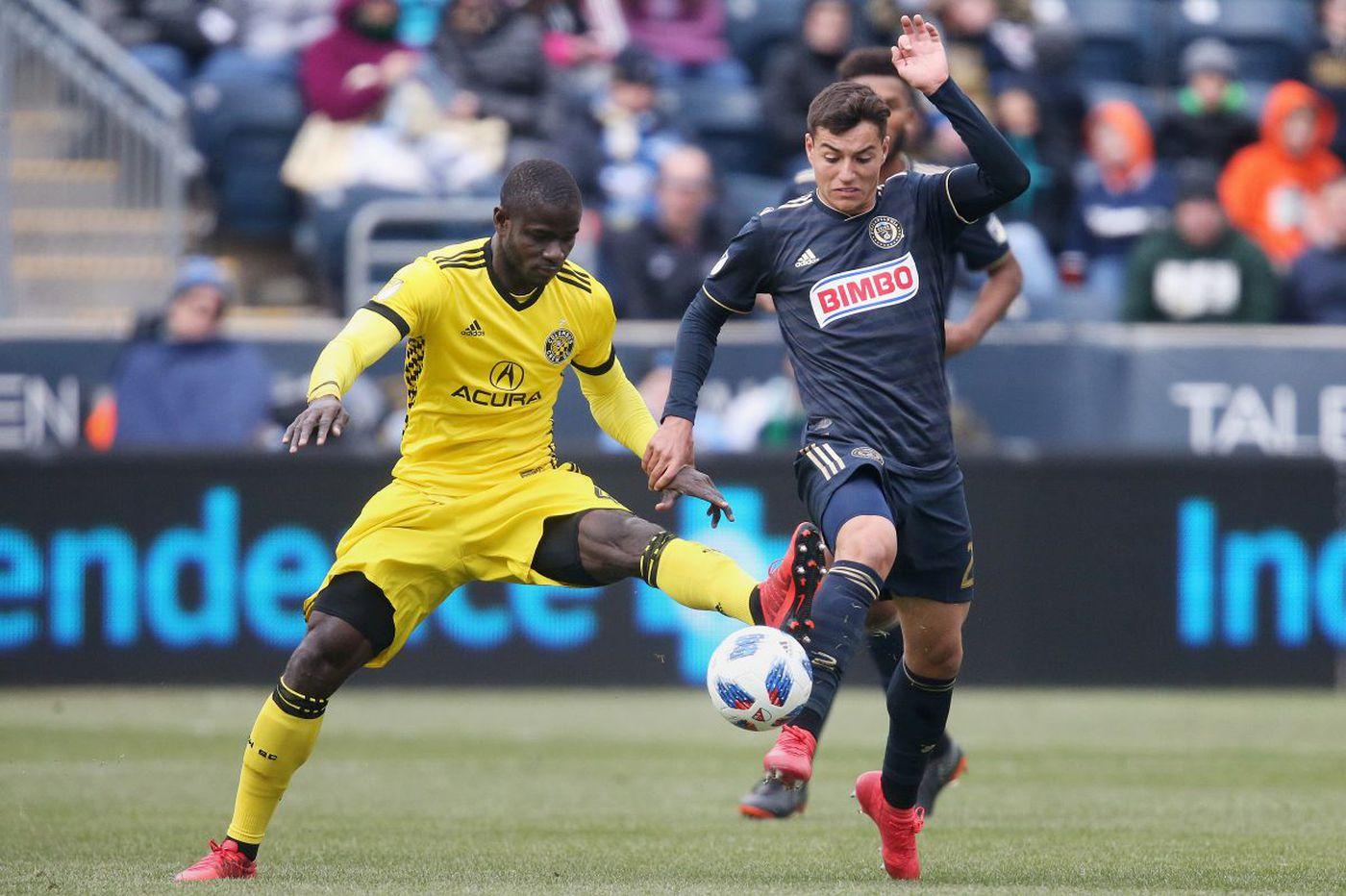 As the Union's offense struggles, Anthony Fontana waits to provide a spark