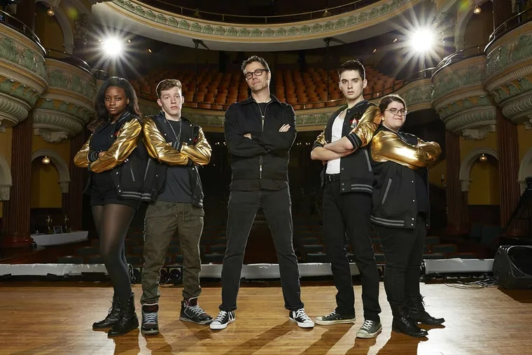 """Deke Sharon (center) and Stay Tuned, Cherry Hill East High School's a cappella team, will compete against rivals from Allendale, N.J., in Lifetime's """"Pitch Slapped."""""""