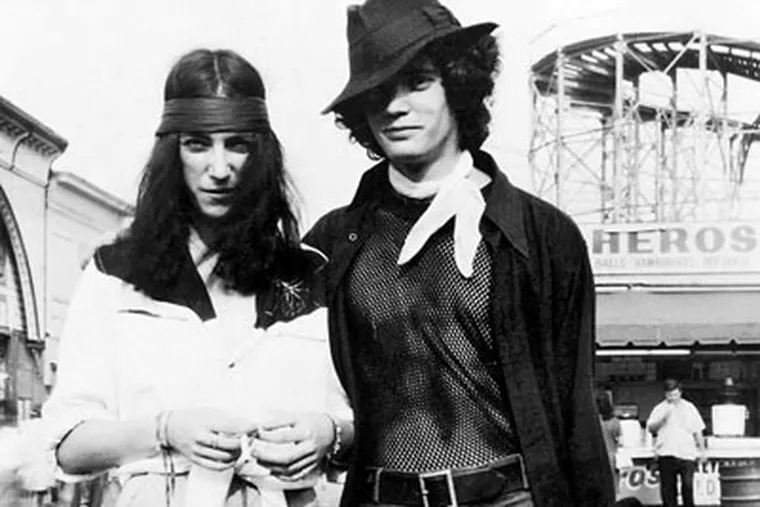 """Patti Smith and Robert Mapplethorpe at Coney Island. She writes of her friendship and love affair with the photographer Mapplethorpe in """"Just Kids,"""" which won the National Book Award. To this day, she says, """"I see with his eyes."""""""