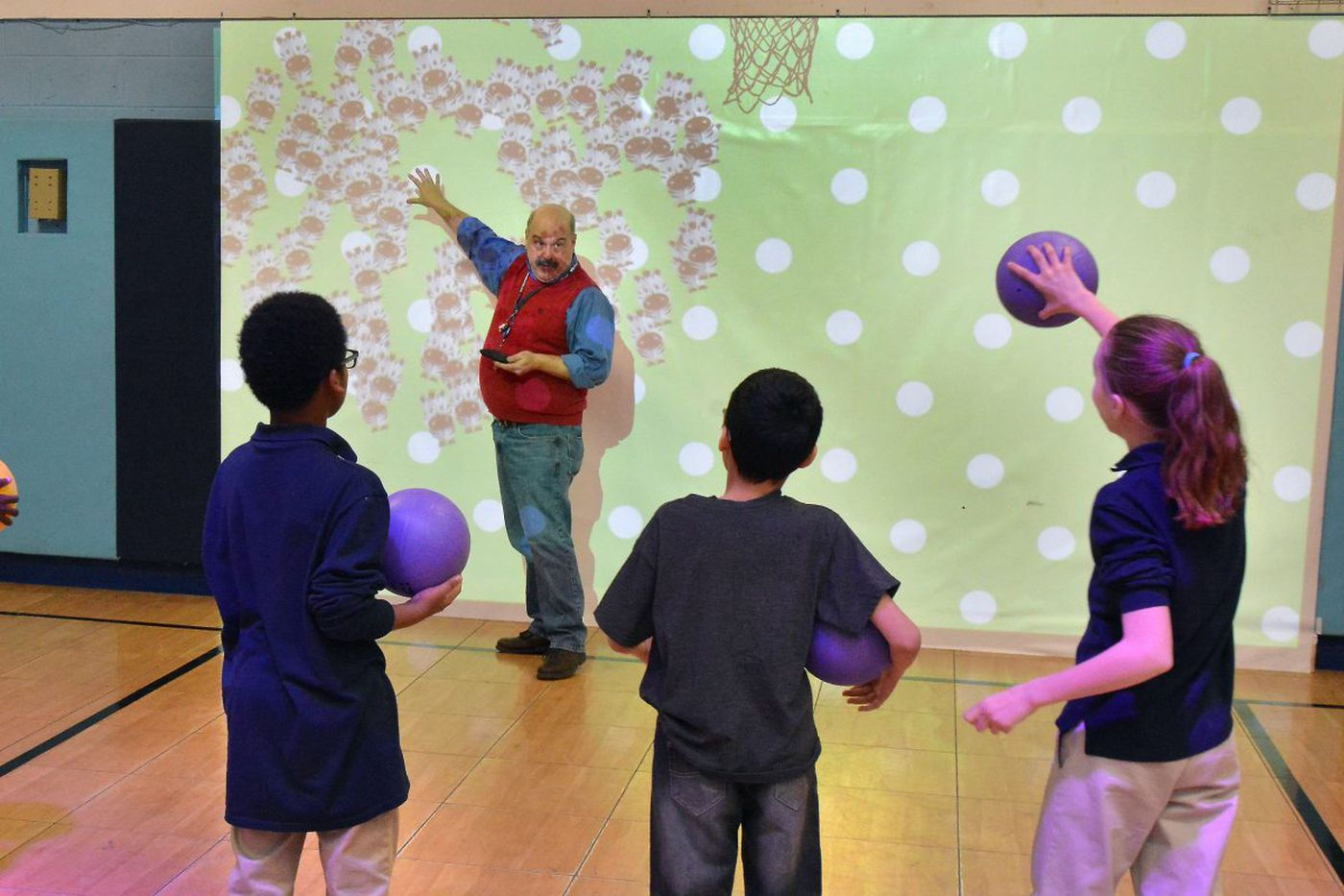 Gym class that's like 'stepping into a video game'