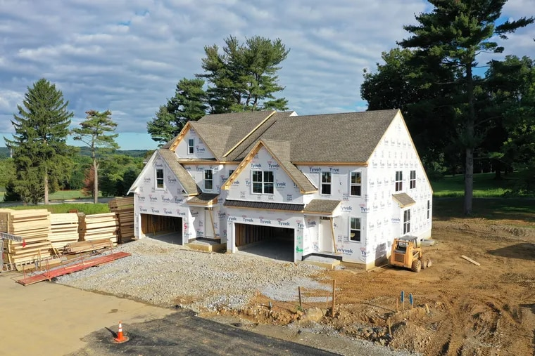 A house under construction by Chester County-based Southdown Homes. In the fall, Redfin predicted that the most houses since 2006 will be built in 2021.