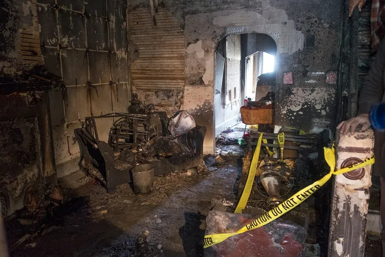 The scene of a fatal fire in Brewerytown.