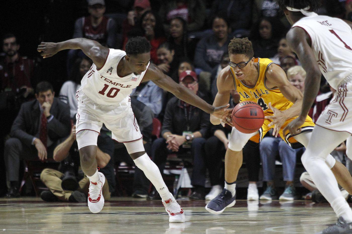 Temple beats La Salle in basketball opener, spoils Ashley Howard's debut