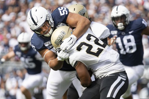 Penn State's Antonio Shelton uses his voice to support and defend teammates