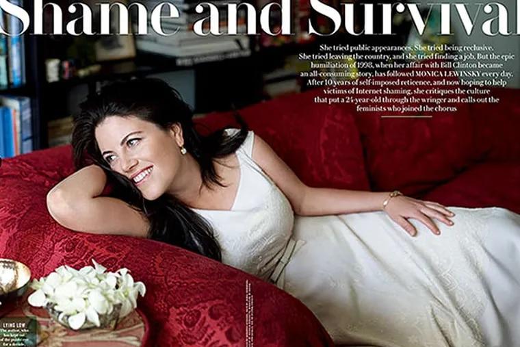 The Monica Lewinsky spread in Vanity Fair magazine.
