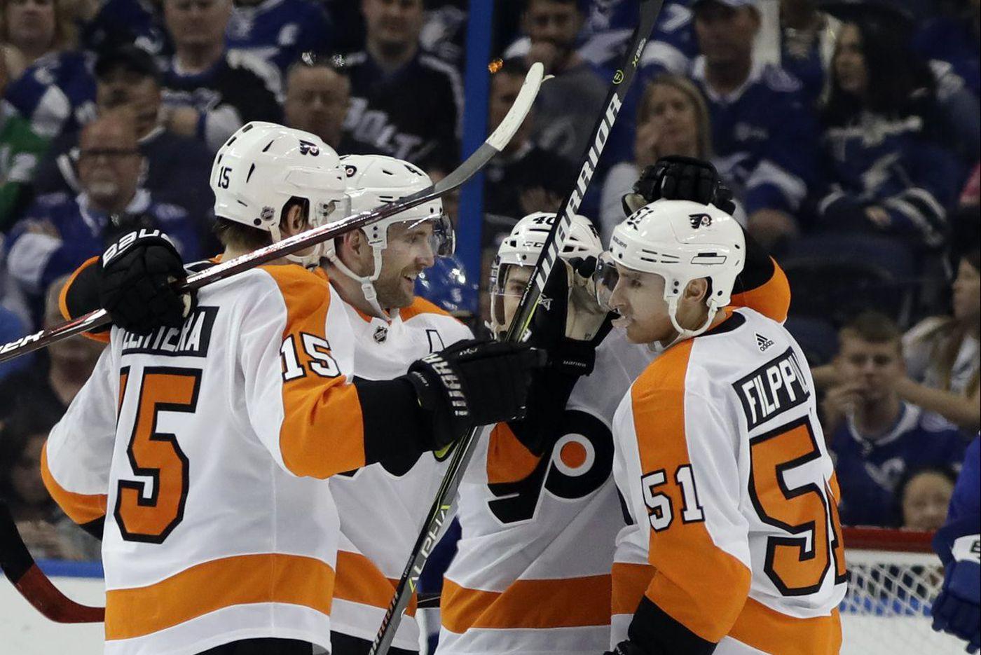Flyers winger Jori Lehtera finally feels he belongs; Brian Elliott returns to ice