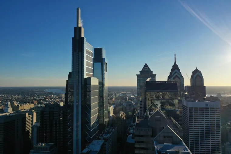 The Comcast Technology Center, with a height of 1,121 feet, is the newest skyscraper in Philadelphia.