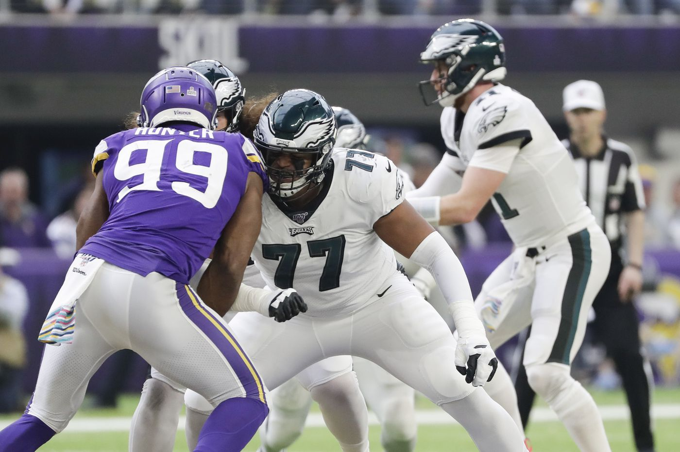Eagles film analysis: Rookie tackle Andre Dillard shows strong footwork, some weaknesses too