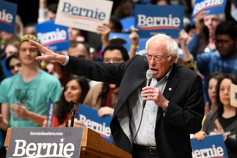 Democratic presidential candidate Bernie Sanders during a rally in Charlotte, N.C., on Feb. 14, 2020.