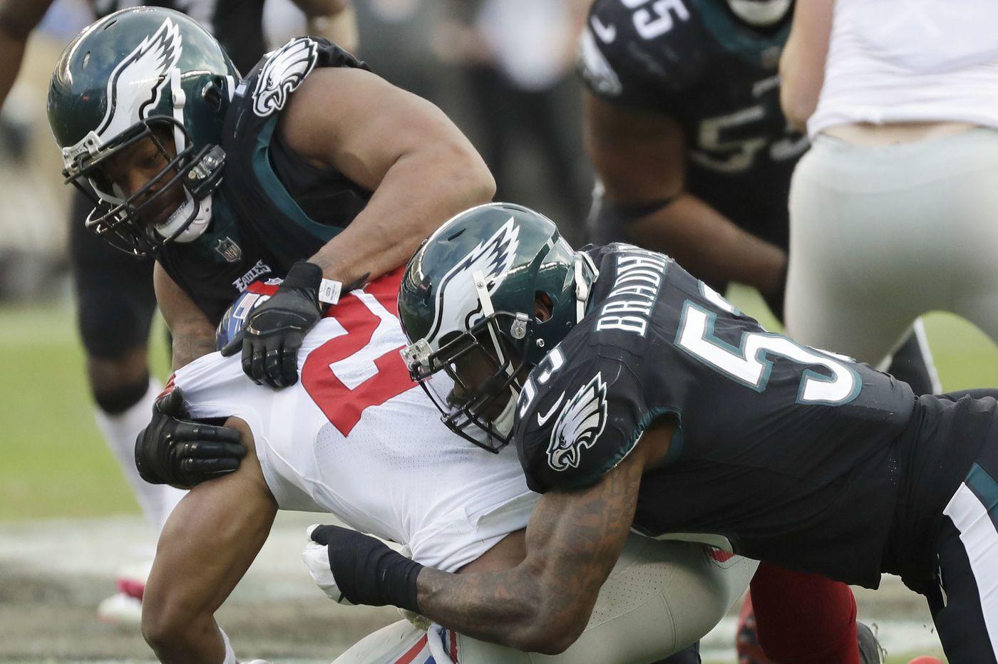 Eagles' Nigel Bradham has a broken thumb but intends to play against Washington