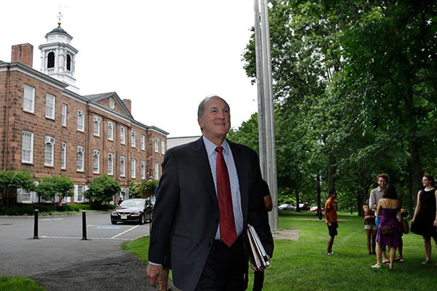 Rutgers president describes university's health