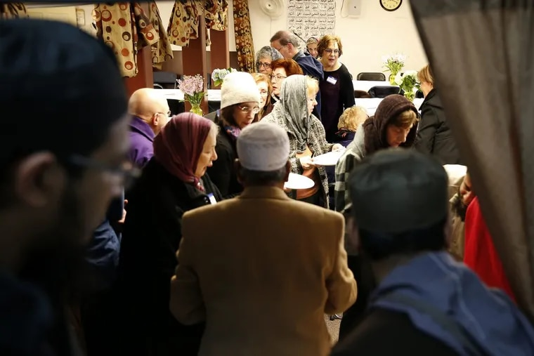 In January, congregants from Temple Beth Am in Jenkintown visited the North Penn Mosque in Lansdale to learn about the Muslim religion, observe a prayer session and share a meal.