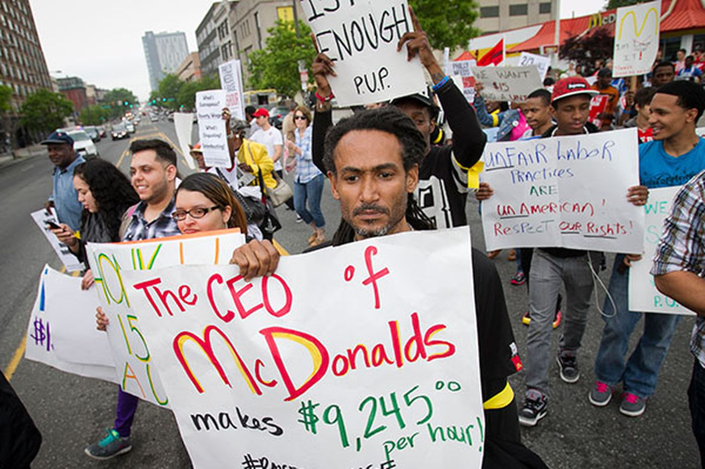Fast-food workers strike, protest 'poverty pay'
