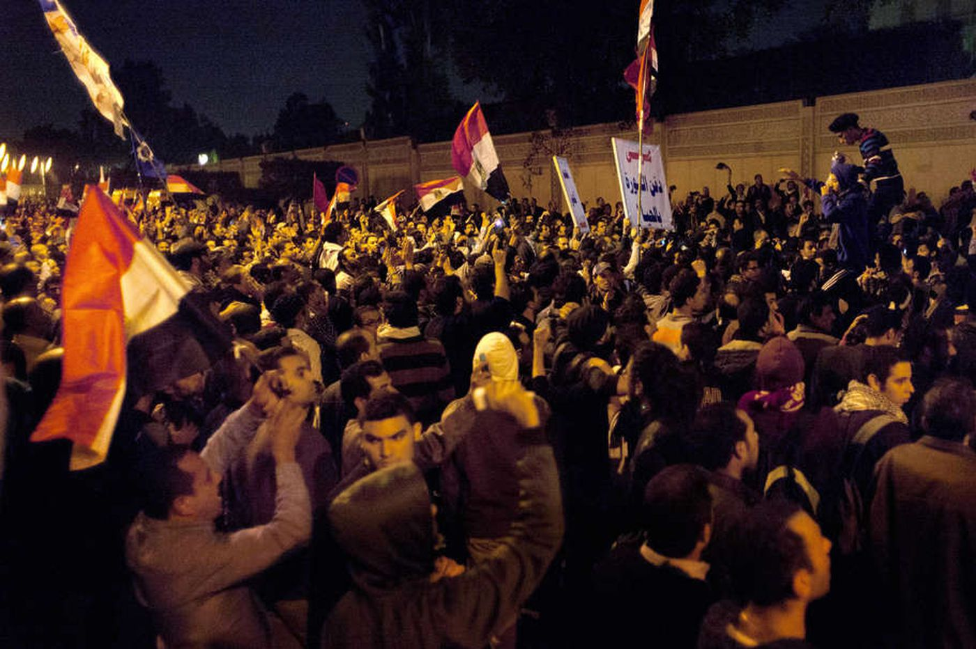 Egyptians protest at palace