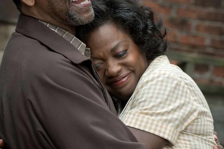 "Denzel Washington and Viola Davis in ""Fences."""