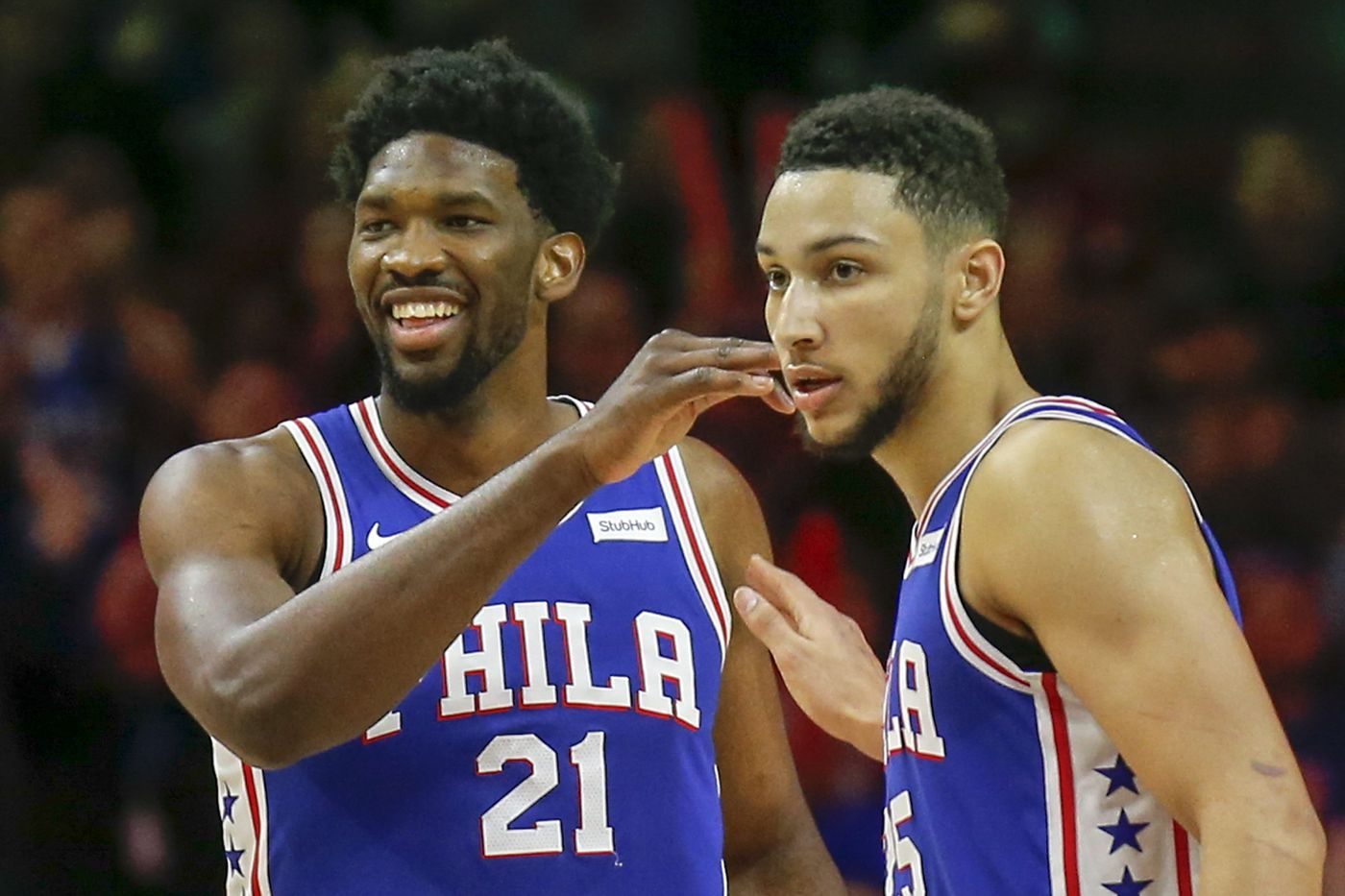 Sixers' Ben Simmons, Joel Embiid are big stars in China
