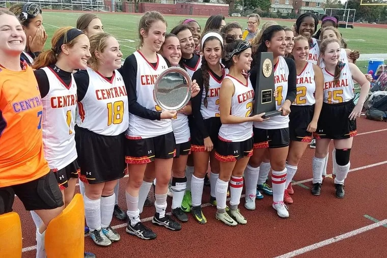 The Central field hockey team after winning the Public League title on Wednesday.