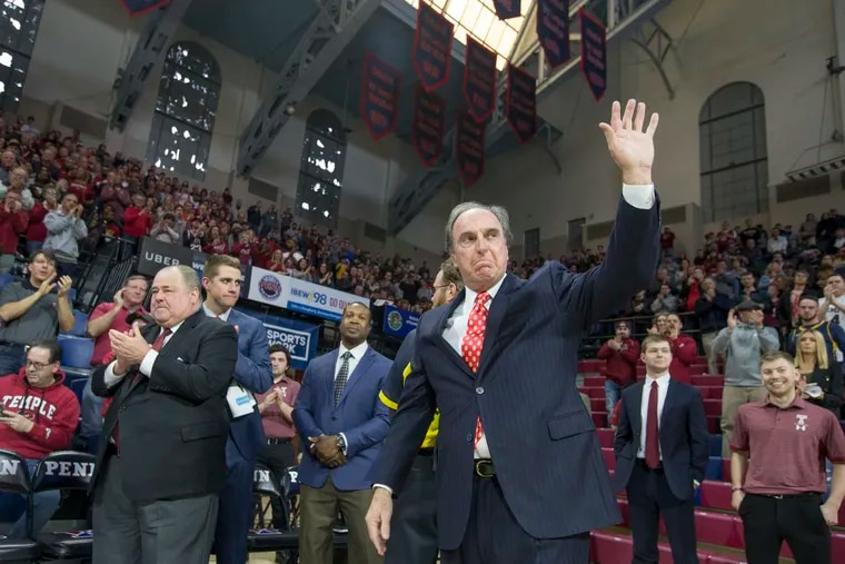 Fran Dunphy says he has remained close to the Temple basketball program, saying he attended all but one home game last season.