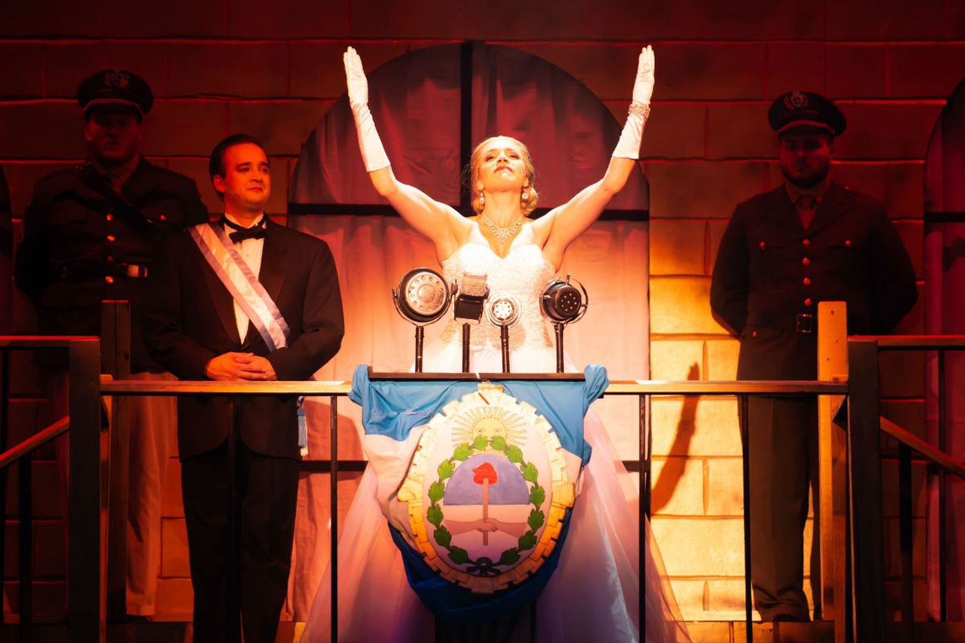 'Evita' at the Broadway Theatre of Pitman: A woman's life, sung and danced with brio