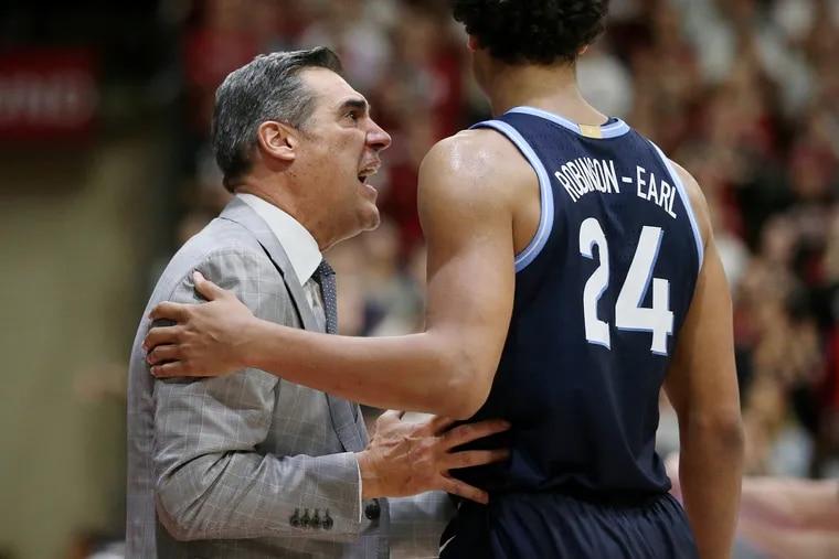 Coach Jay Wright's Villanova Wildcats will get a test Saturday against top-ranked Kansas.