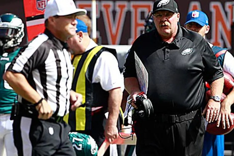 The Eagles were penalized 12 times for 110 yards in their win over the Browns. (Yong Kim/Staff Photographer)