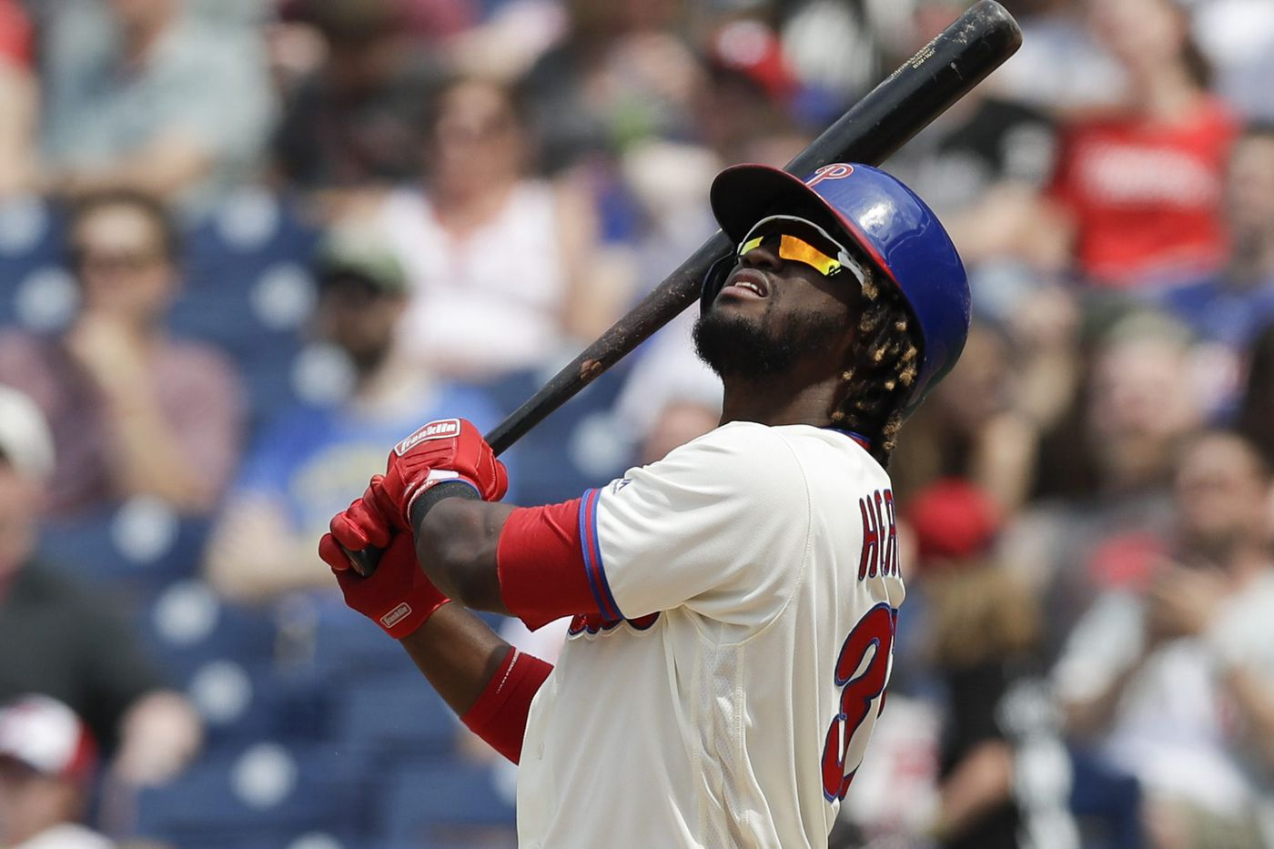 A frustrated Odubel Herrera isn't sure what's wrong