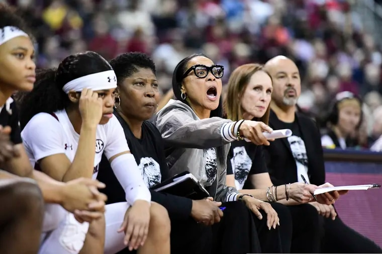 Dawn Staley (third from right) has coached at Temple, South Carolina and for the U.S. women's Olympic team.