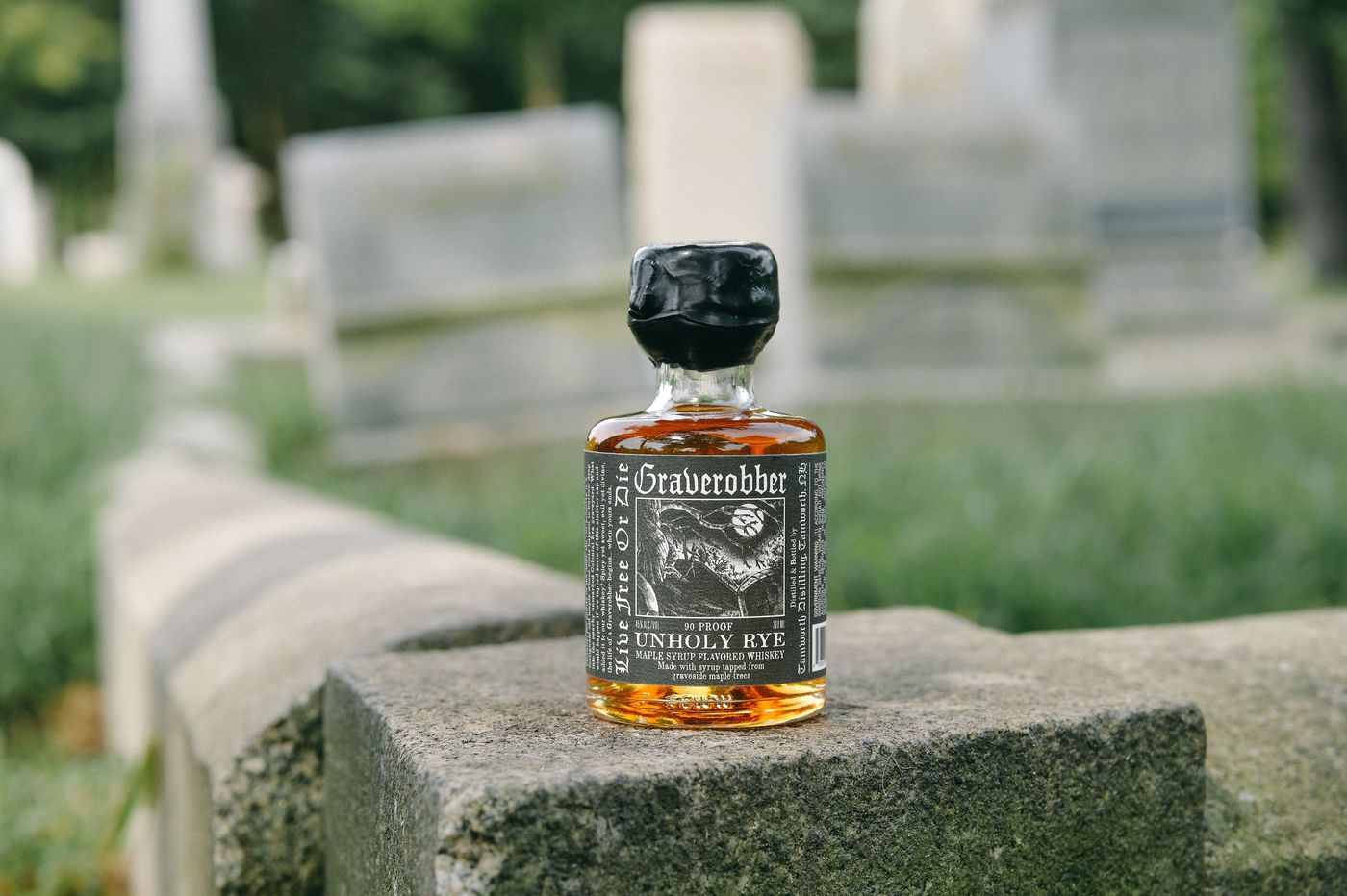 This maple-infused spirit comes from beyond the grave — literally