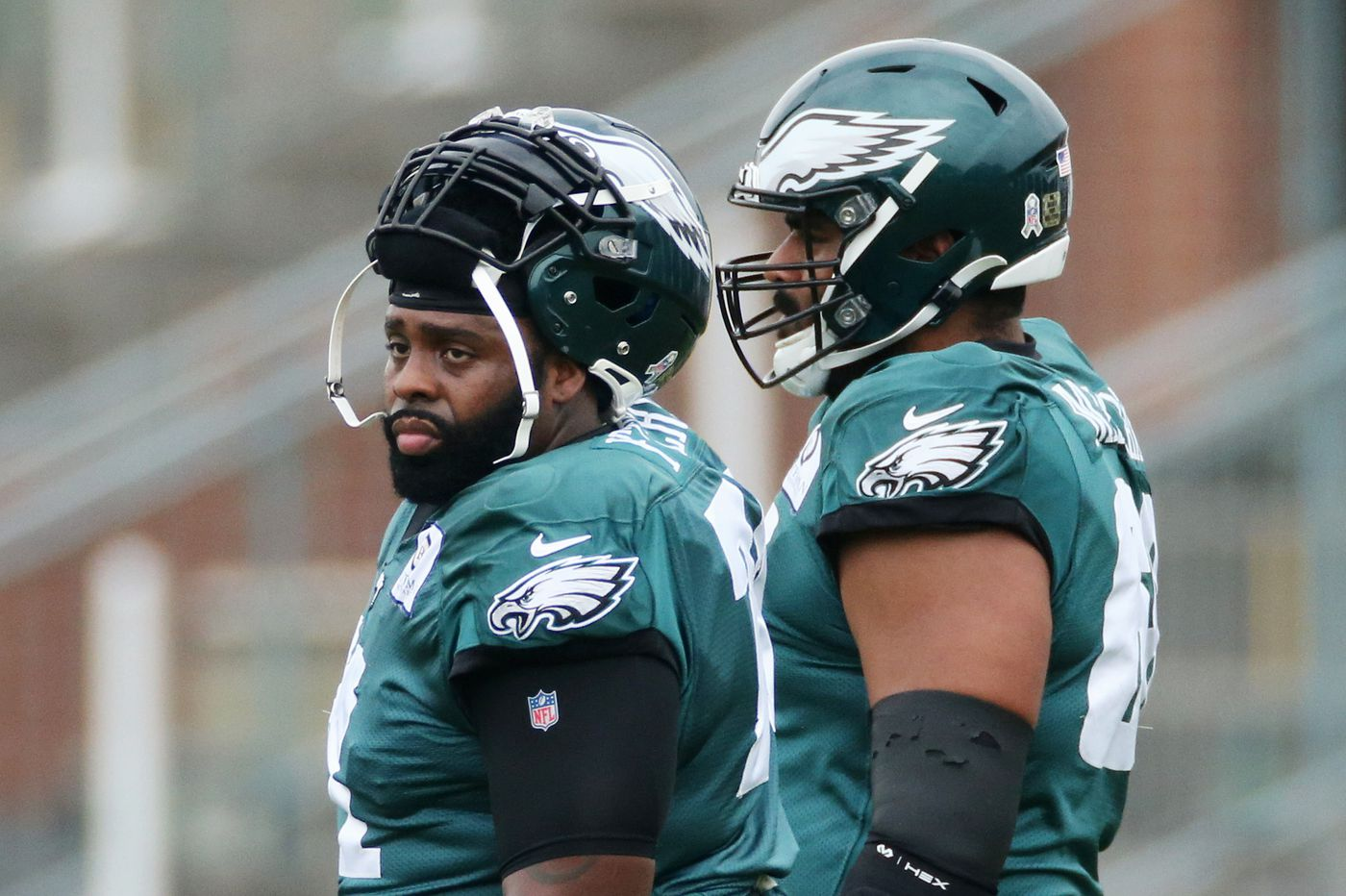 Jason Peters is back at left tackle for the Eagles, Jordan Mailata at right tackle, but that's subject to change