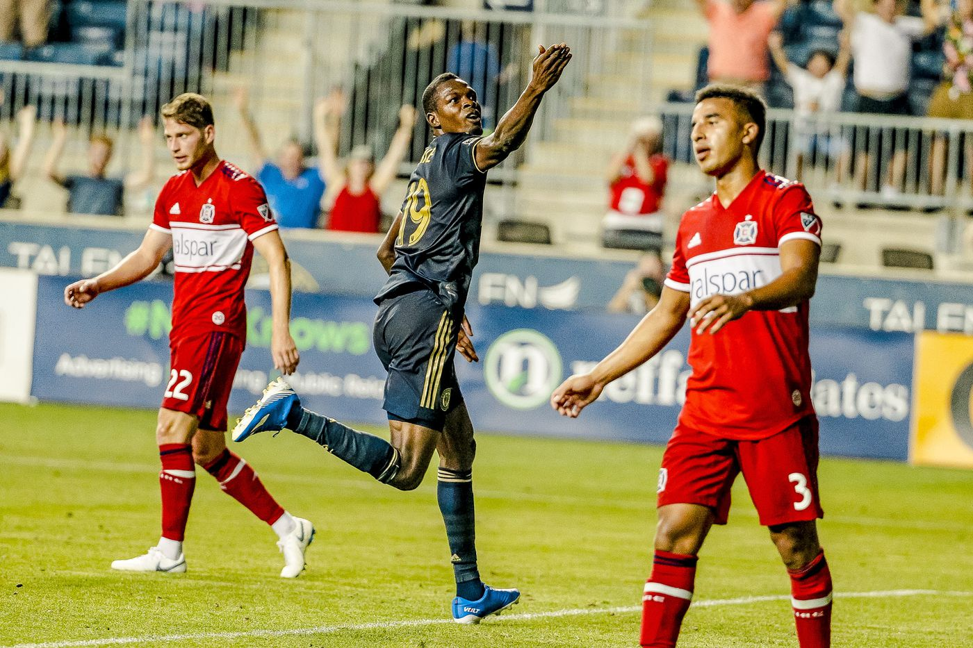 Union reach first U.S. Open Cup final in three years with 3-0 win over Chicago Fire