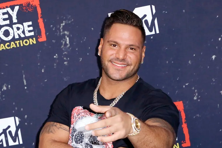"""FILE - In this Thursday, March 29, 2018 file photo, Ronnie Ortiz-Magro arrives at the LA Premiere of """"Jersey Shore Family Vacation"""" in Los Angeles. A lawyer says Ortiz-Magro's on-again-off-again girlfriend will fight a misdemeanor domestic battery charge alleging she attacked Ortiz-Magro at a Las Vegas club on New Year's Eve. Jennifer Annette Harley's attorney, Michael Cristalli, said Friday, May 17, 2019 he was surprised his 32-year-old client was arrested Thursday on a warrant issued April 17, more than four months after the incident at the Hustler Night Club. (Photo by Willy Sanjuan/Invision/AP, File)"""