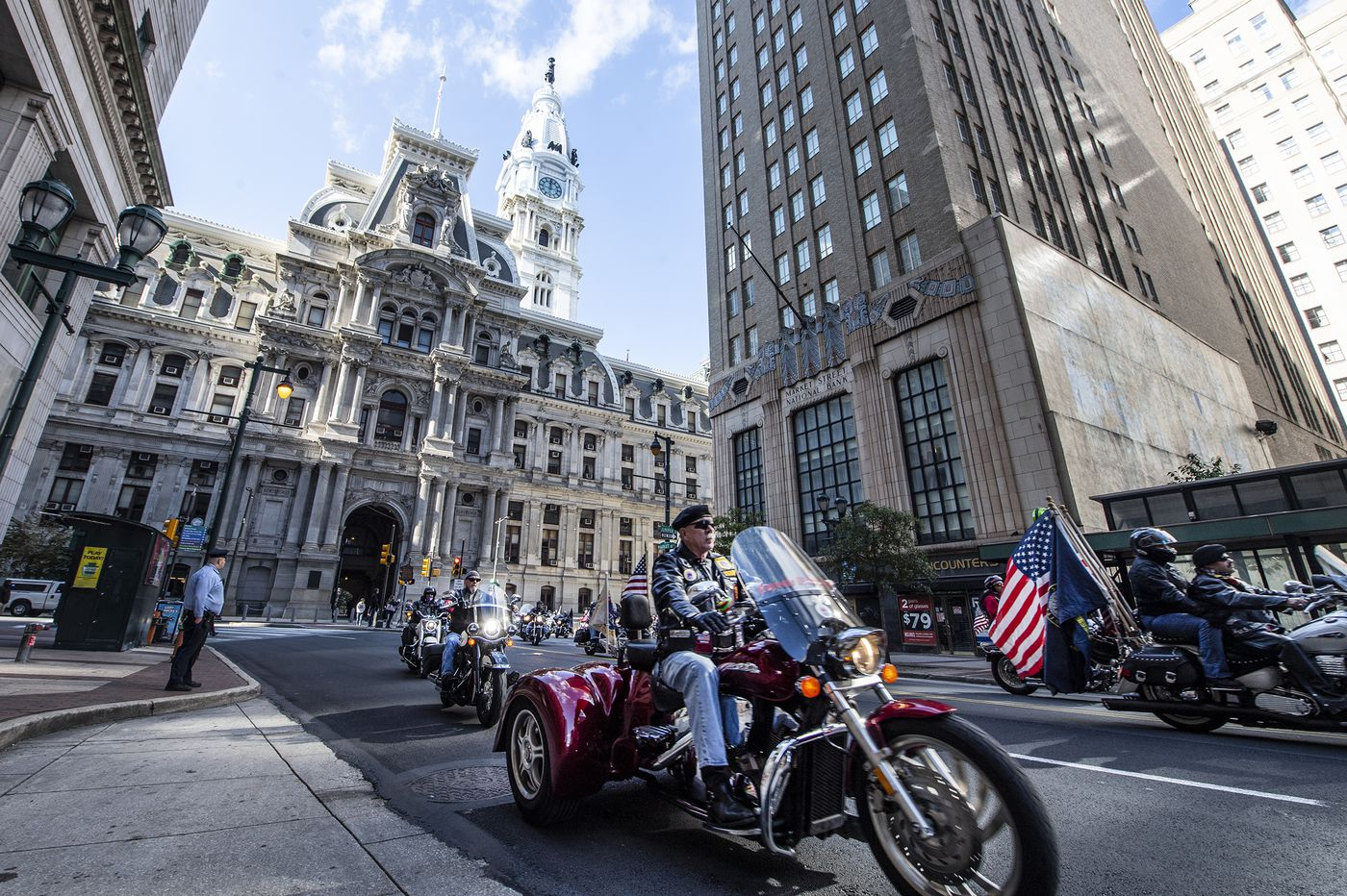 Amid motorcycles and American flags, Philly pays homage to military veterans