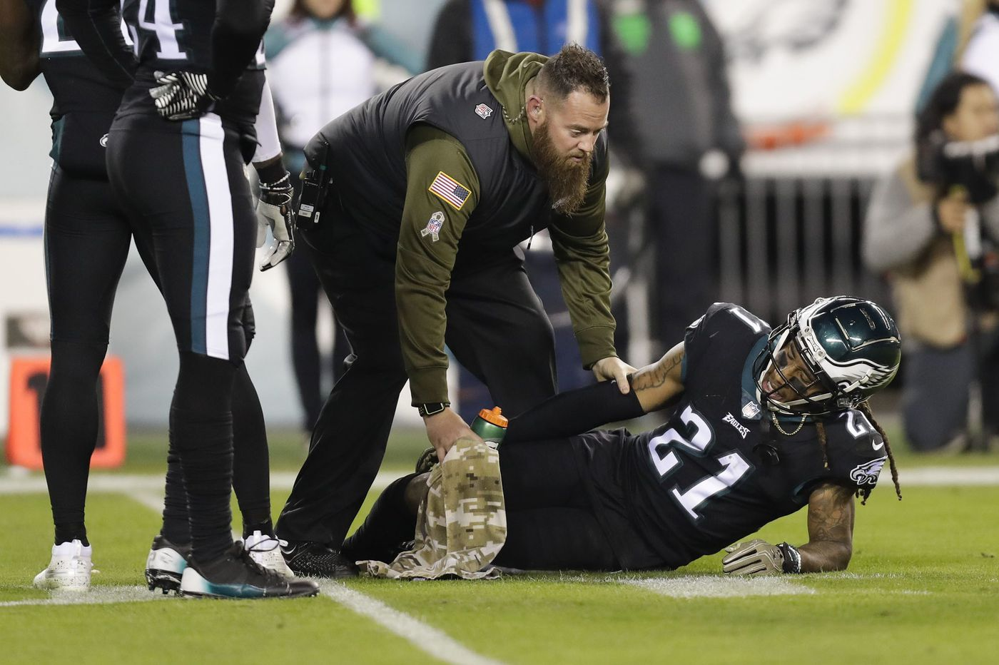 The Eagles were counting on Ronald Darby as the top cornerback, and now he's out for the season with a torn ACL