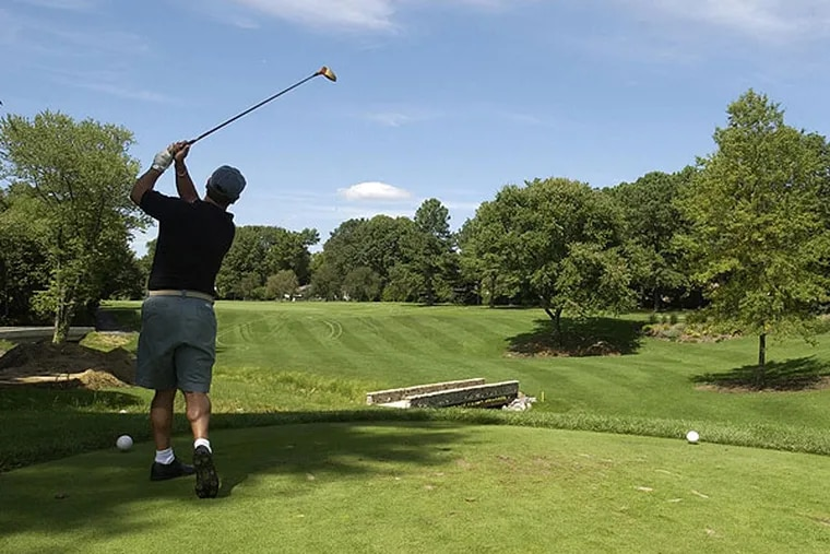 The first hole at Woodcrest Country Club in Cherry Hill.