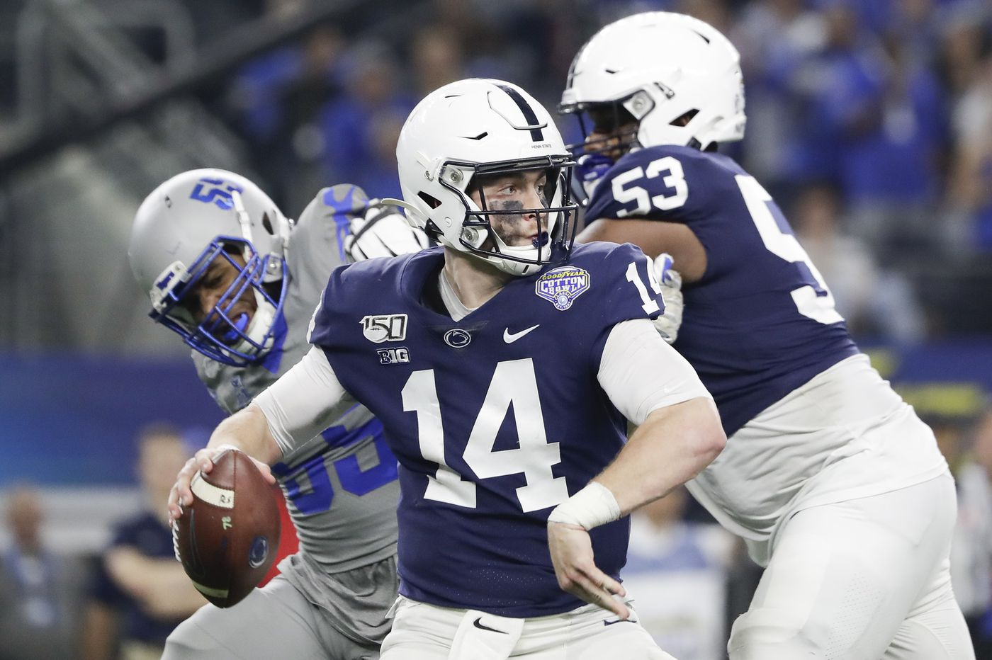 Penn State quarterback Sean Clifford and new offensive coordinator Kirk Ciarrocca working well together