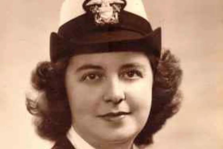 During World War II, Eileen Cavaliere was a Navy Wave.