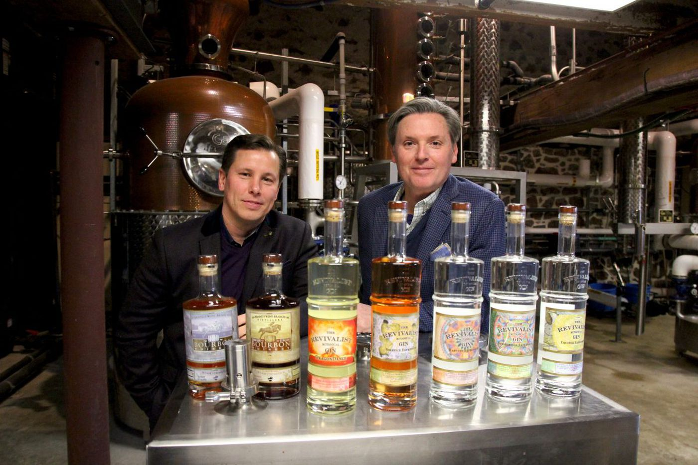 The spirits moved them from the auto-parts world into gin and bourbon