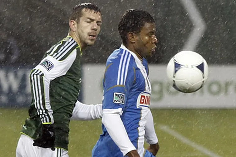 Lionard Pajoy didn't see much of the ball Monday as the Union's offense struggled to get in gear. (Don Ryan/AP)