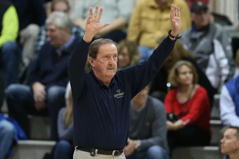Herb Magee in 2019 when he won his 1,100th game.