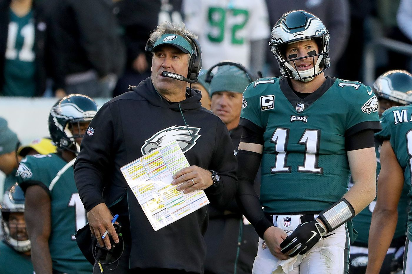 Doug Pederson says 'the pressure is off' and 'anything is possible' following Eagles' 21-17 loss to Panthers