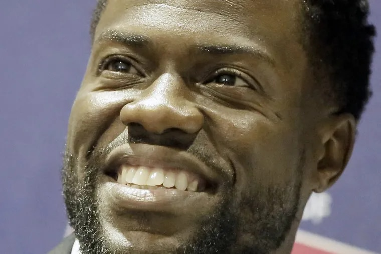 """Comedian Kevin Hart during meet and greet with fans, to promote his memoir """"Life Lessons"""" at the Free Library of Phila. on June 7, 2017."""