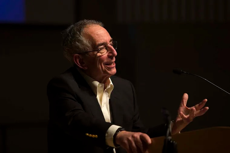 Barry Schwartz, a psychology professor from Swarthmore college, spoke at a symposium held in his honor at Lang Concert Hall Saturday, March 19, 2016. After 45 years of teaching, Schwartz will retire this spring. JENNIFER KERRIGAN / Staff Photographer