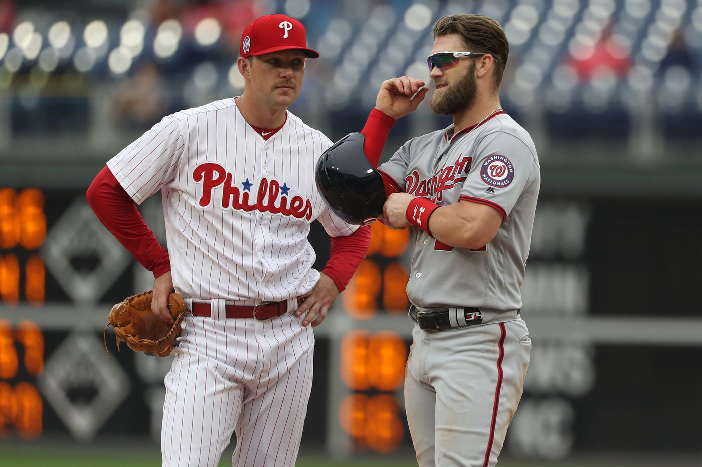 Rhys Hoskins ready, willing to help Phillies' sales pitch to superstar free agents Bryce Harper and Manny Machado