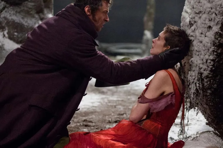 """Hugh Jackman is in full voice as Jean Valjean, and Anne Hathaway is a scene-stealing Fantine in """"Les Miserables."""" They are joined by Russell Crowe as the relentless Inspector Javert."""