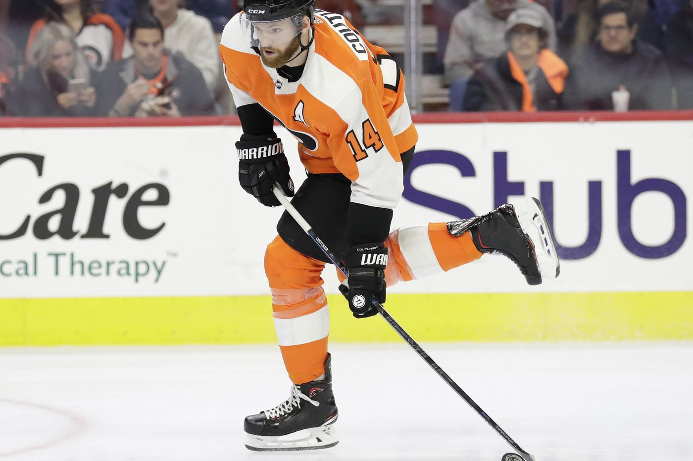Sean Couturier injured and out of Flyers' lineup; Anthony Stolarz making 4th straight start