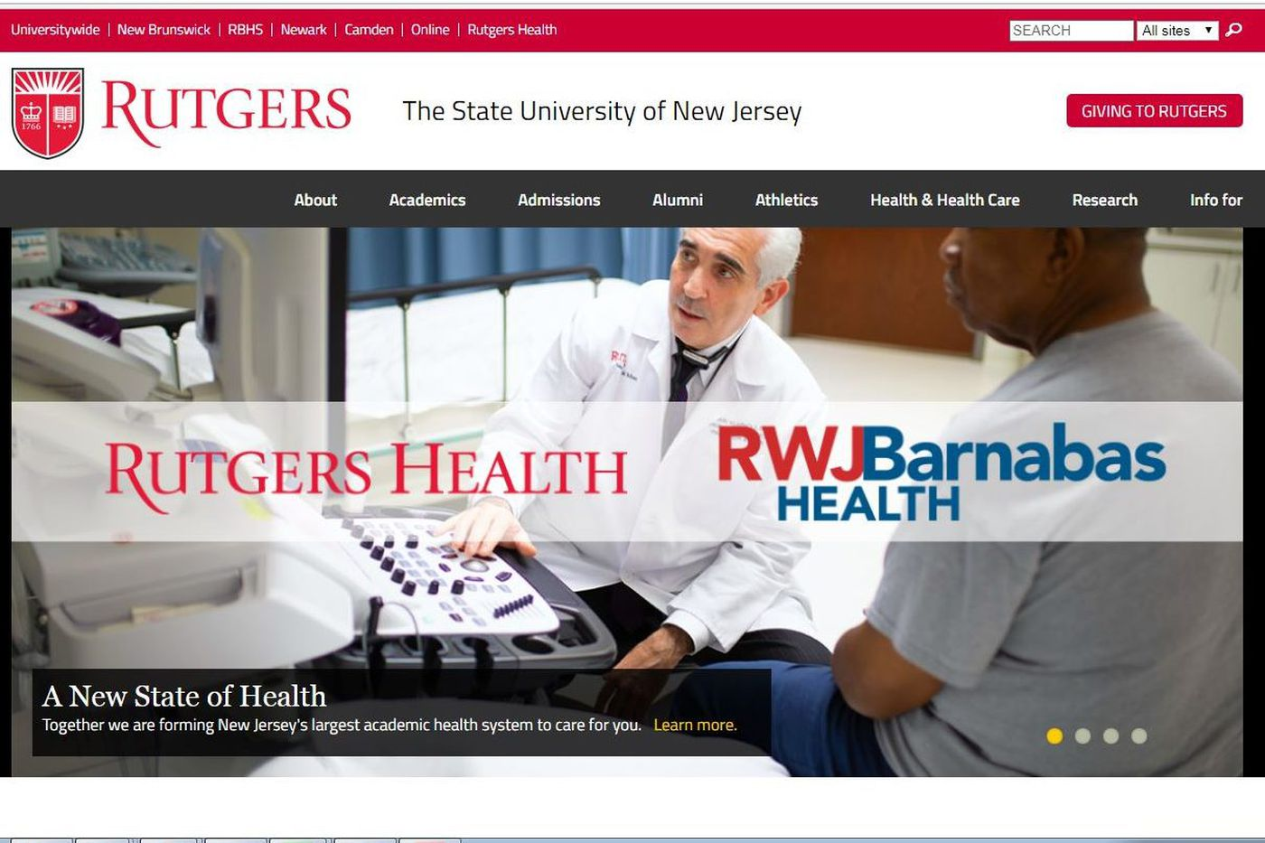 Rutgers and RWJBarnabas Health launch academic health system