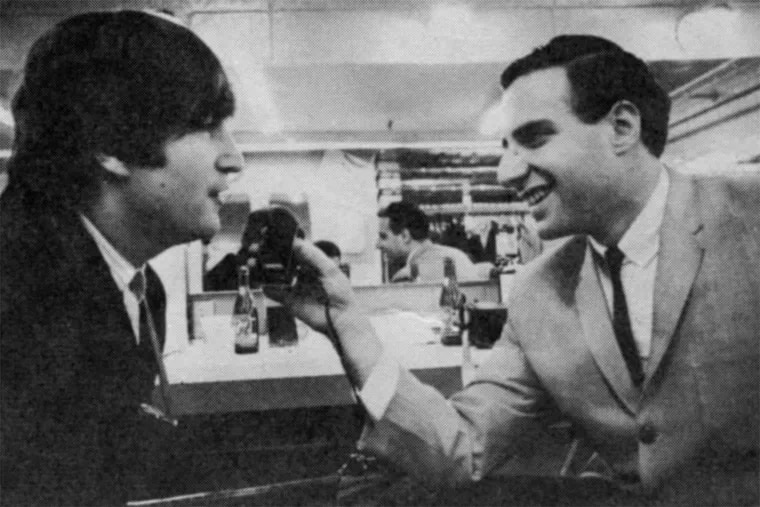 Larry Kane with John Lennon. Kane, a key presence in a new Beatles film, attended every Beatles concert in America in 1964 and 1965.