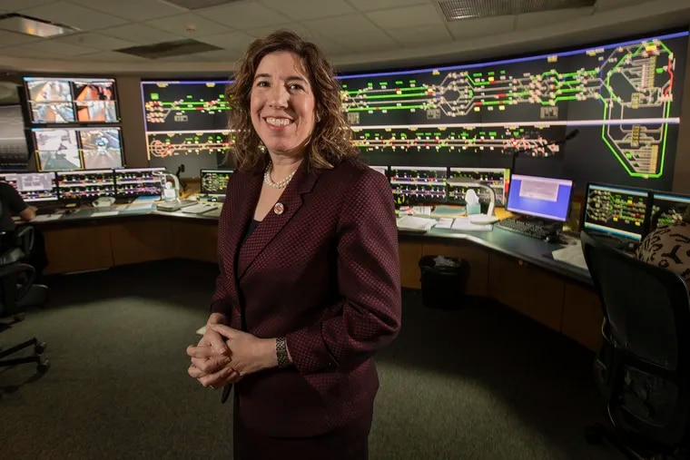 Leslie Richards, SEPTA's new general manager, in the SEPTA control center in downtown Philadelphia for the Market-Frankford and Broad Street Lines.