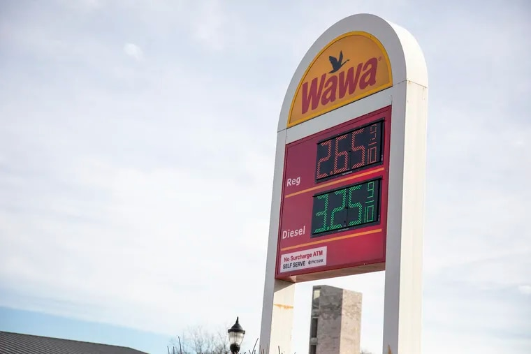 People fill up on gas at Wawa on 6701 Ridge Ave., in Philadelphia on Thursday, Jan. 2, 2020. Wawa disclosed a data breach affecting potentially all of its stores.